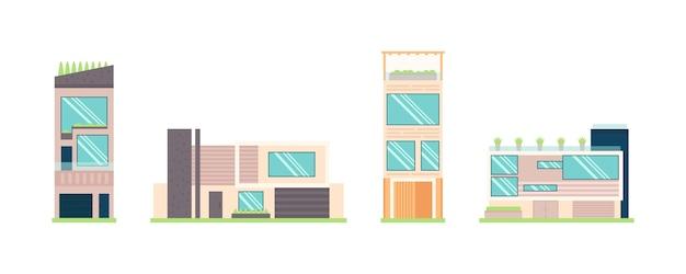 Linda coleção de fachada de casa