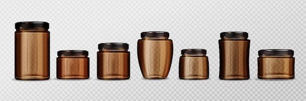 Linda coleção de jarras realistas