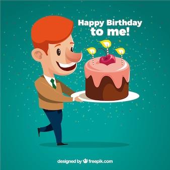 Linda composição de aniversário