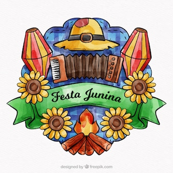 Linda composição junina festa junina