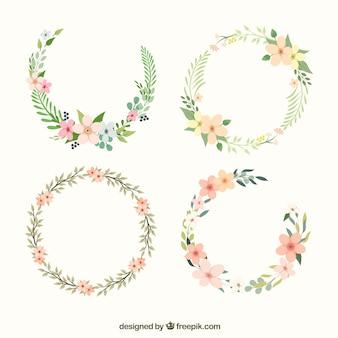 Linda coroa floral