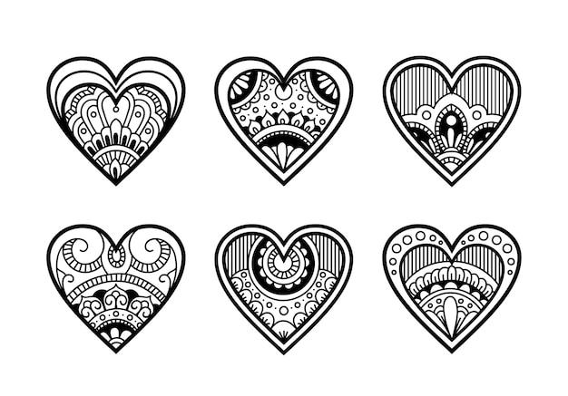 Linda decoração de amor com estilo mandala