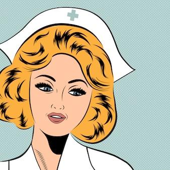 Linda enfermeira simpática e confiante