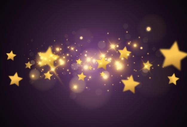 Linda estrela brilhante. ilustração de um efeito de luz