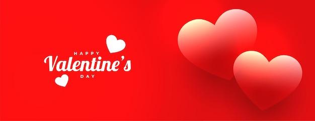 Linda faixa vermelha de amor para o dia dos namorados