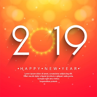 Linda feliz ano novo 2019 texto festival fundo