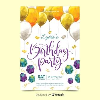 Linda festa de aniversário com presentes
