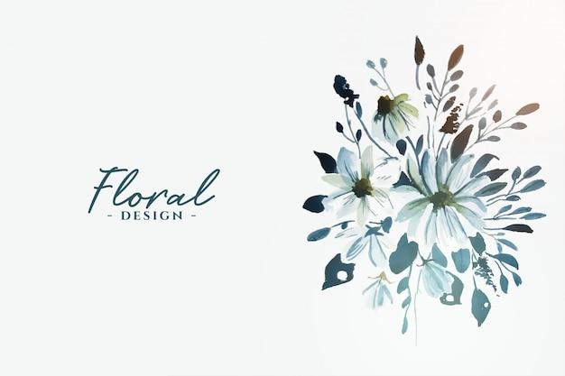 Linda flor floral em aquarela decorativa