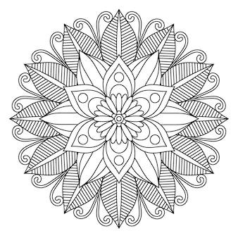 Linda flor mandala