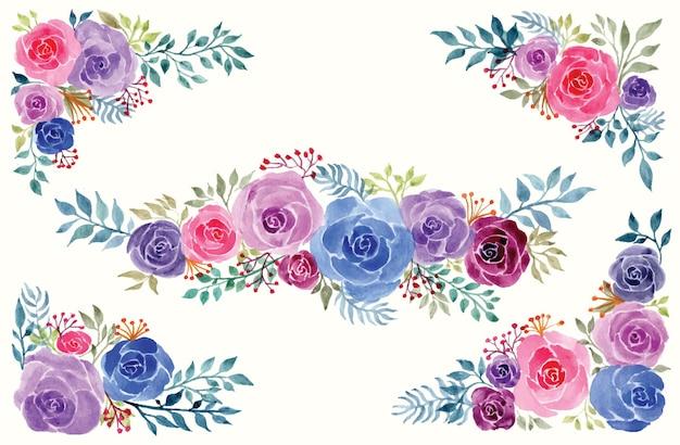 Linda flor rosa watercolor