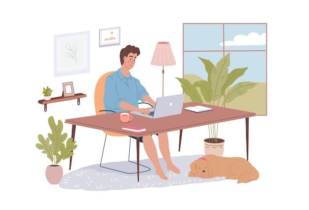 Linda garota com gatos e pug engraçado sentado na janela