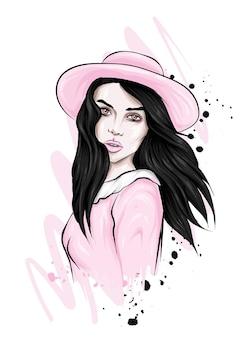 Linda garota com um chapéu