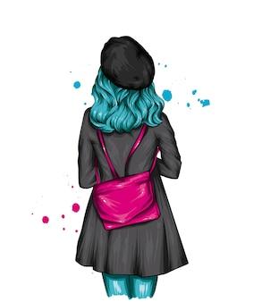 Linda garota de boina e casaco