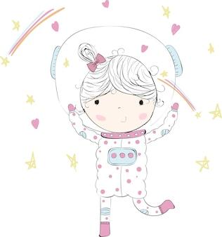 Linda garota de terno, baby astronaft