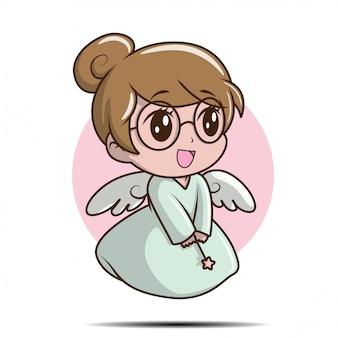 Linda garota na ilustração de fantasia de fada