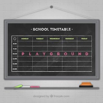 Linda horário escolar negro