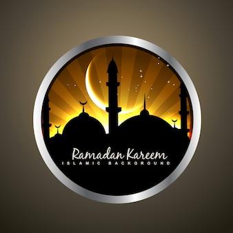 Linda ilustração vetorial emblema islâmico