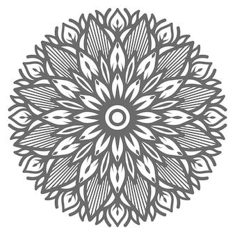 Linda mandala de flores para decoração