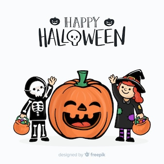 Linda mão desenhada fundo halloween