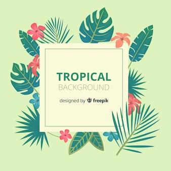 Linda mão desenhada fundo tropical
