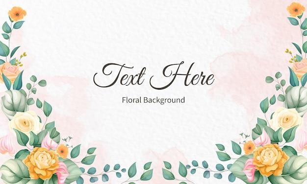 Linda mão desenhando flores e folhas