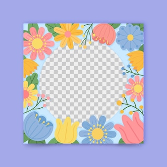 Linda moldura floral para facebook