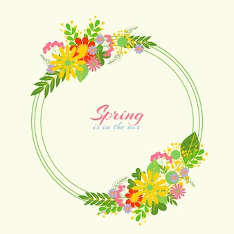 Linda moldura floral primavera