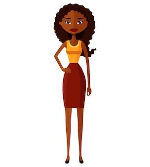 Linda mulher de negócios afro-americana