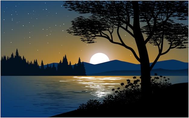 Linda noite no rio