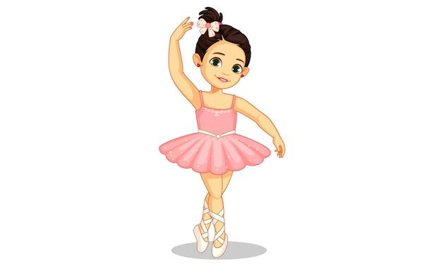 Linda pequena bailarina no ballet