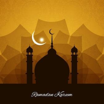 Linda ramadan kareem fundo religioso