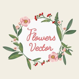 Lindamente desenhadas flores
