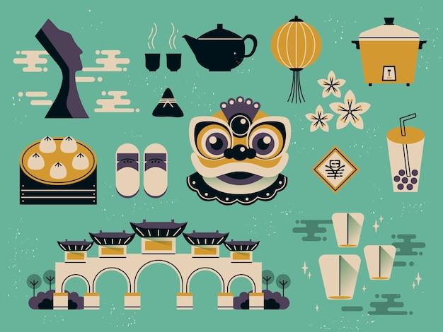 Lindas coleções de cultura de taiwan