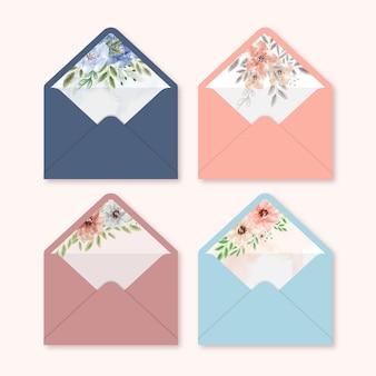 Lindas coleções de envelope para cartão de casamento
