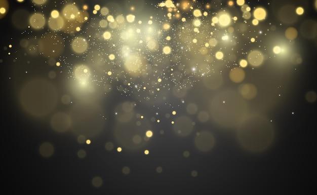 Lindas faíscas brilham com luz especial o vetor cintila em um fundo transparente