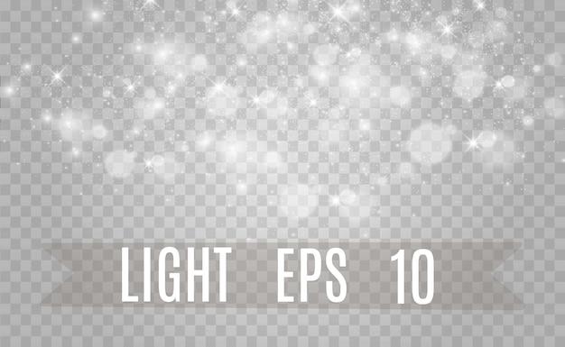 Lindas faíscas brilham com luz especial. vetor cintila em um fundo transparente natal ab