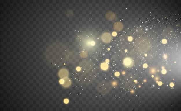 Lindas faíscas brilham com luz especial