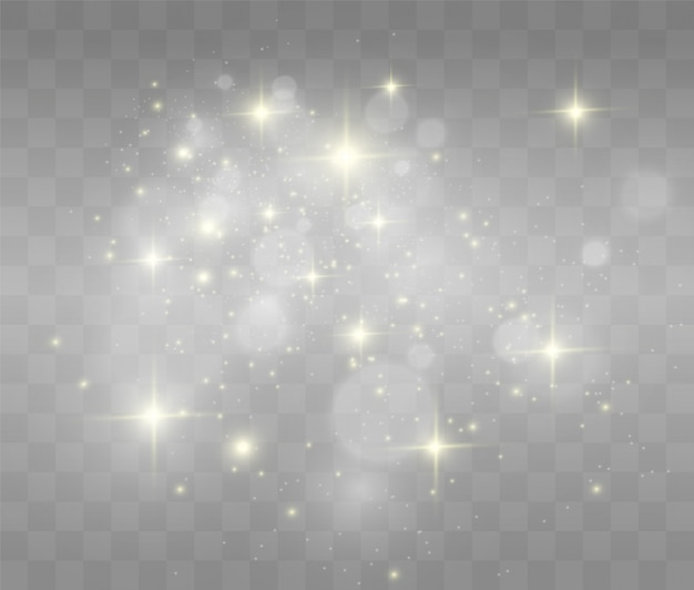 Lindas faíscas brilham com luz especial.