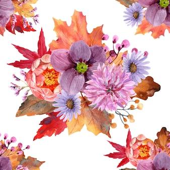 Lindas flores em aquarela