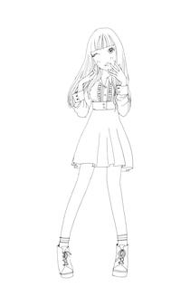 Lindas garotas bonitas desenhadas à mão jovem feliz adolescente cartoon doodle mulheres vetor isolado