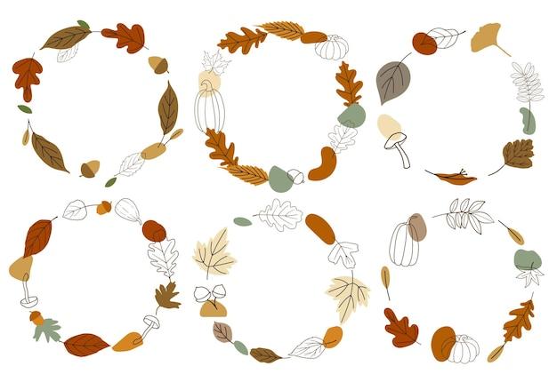 Lindas grinaldas abstratas de outono