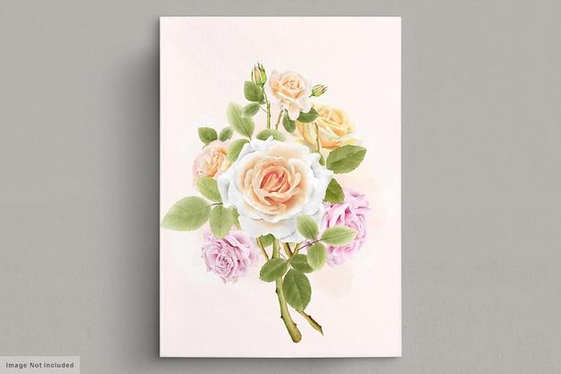 Lindas ilustrações vintage de rosas desenhadas à mão