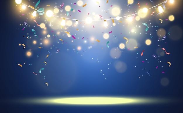 Lindas luzes brilhantes de natal