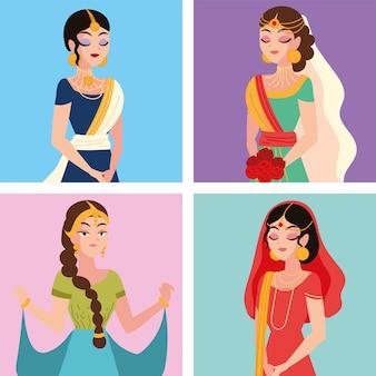 Lindas noivas muçulmanas