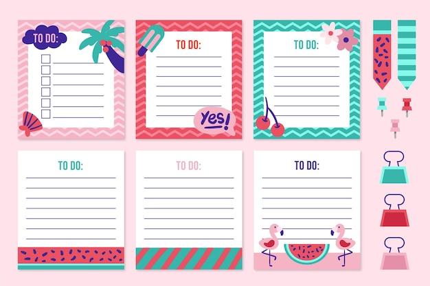 Lindas notas e cartões de recados
