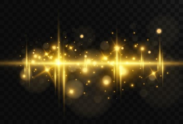 Lindo alargamento horizontal brilhante. brilho dourado, listras claras