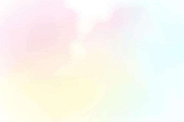 Lindo algodão doce céu fundo aquarela