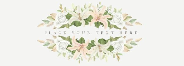 Lindo banner com flores de lírio
