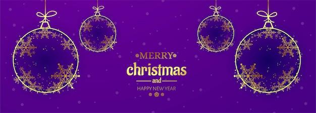 Lindo banner de celebração de cartão de floco de neve de natal