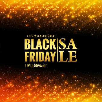 Lindo banner preto de venda na sexta-feira com brilhos brilhantes